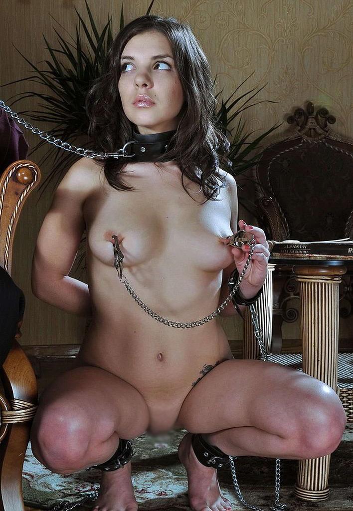 【SMエロ画像】尻尾があれば振ってそうw首輪に繋がれたMペットたちwww 15