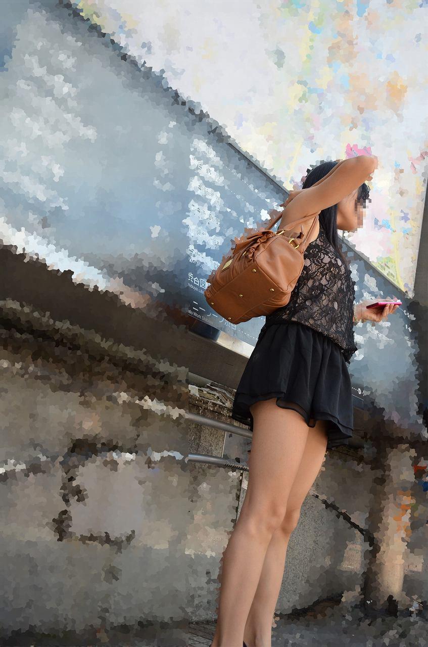 【美脚エロ画像】太いから太ももなんですw夢中で見ちゃう街のミニスカ下半身www 14