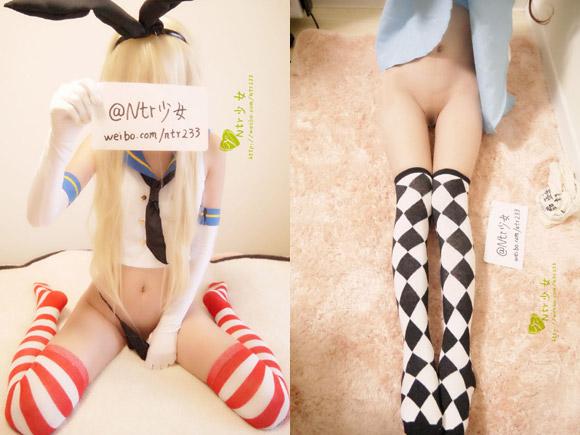中国版Twitterでパイパン晒してるコスプレ美少女wwwww